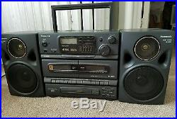 Vintage Panasonic Rx-dt670 Portable Boombox S-xbs Radio CD Cassette Player