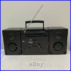 VTG 1993 Sony CFD-560 Boombox Portable Cassette CD Player AM/FM Radio Mega Bass