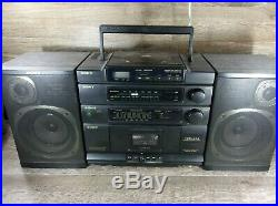 VTG SONY CFD-454 Portable CD AM/FM Cassette Player Recorder Boombox Radio