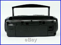 VTG Sony Boombox CD AM/FM Radio Cassette Tape Player Recorder Portable Stereo