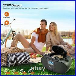 Vanku 4000mAh Radio CD Player Portable Boombox with 2x3W, Support Wireless FM