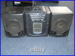 Vintage Boombox Portable CD Player Cassette player Radio JVC-X101BK