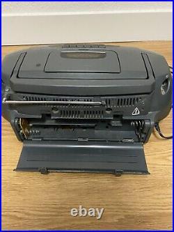 Vintage JVC CD Portable System RC-QS11 AM/FM Cassette Tape CD Player TESTED