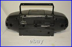 Vintage JVC Portable System RC X720 AM/FM Cassette Tape CD Player Boombox TESTED