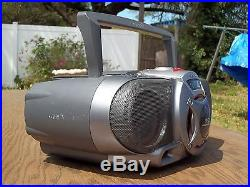 Vintage Old Skool GhettoBlaster Sony CFD-G55 CD/Radio/Cassette Boombox Awesome