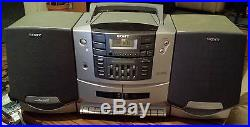 Vintage SONY CFD-ZW750 AM/FM-CD-Dual Cassette Player/Recorder Portable BOOMBOX