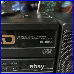 Vintage Sharp Boombox Portable Stereo Component System with CD Player GF-CD55