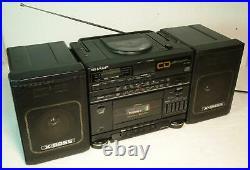 Vintage Sharp GF-CD55 Portable Ghettoblaster Boombox CD Player Radio Cassette