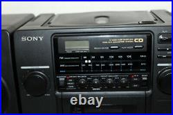 Vintage Sony CFD-440 Portable AM/FM Stereo CD & Cassette Player BoomBox + Manual