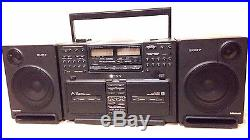 Vintage Sony CFD-770 AM FM CD Compact Disc Player Portable Boombox to restore