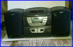 Vintage Sony CFD-ZW160 CD Portable Radio Cassette Player Boombox Stereo Working