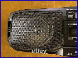 Vtg Panasonic RX-DS30 90's Portable Boombox Radio Cassette Stereo CD Player Nice