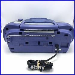 Vtg Panasonic Stereo Radio Cassette CD Player RX-D15 Portable Boombox Tested